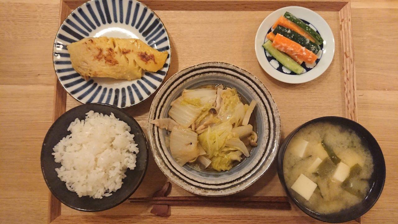 STAUB鍋で白菜と豚バラ肉のポン酢重ね蒸し